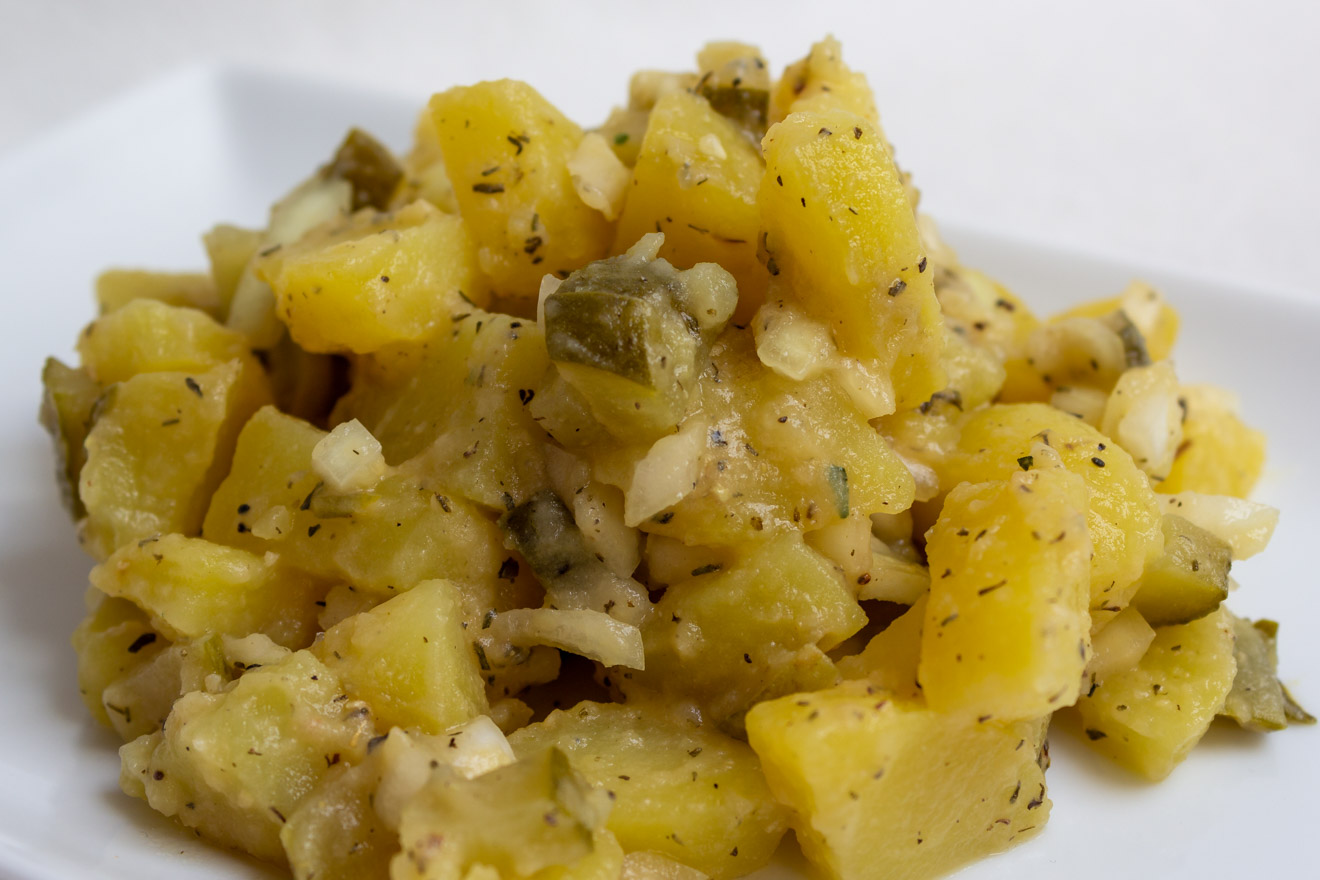 Veganer Kartoffelsalat low fat